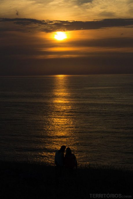 Últimos raios de 2013 vistos em Punta Ballena