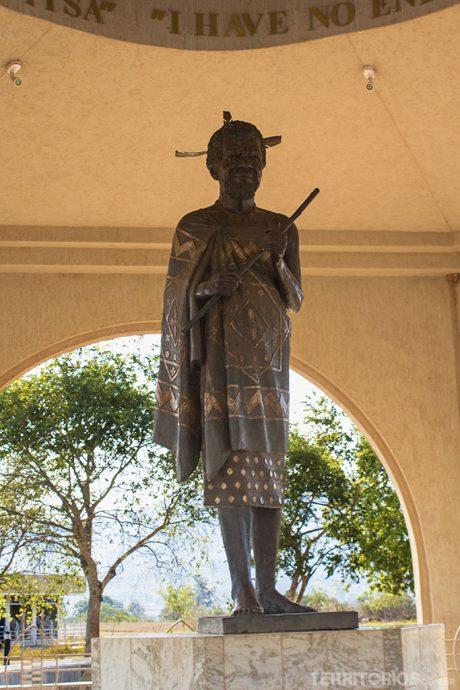 Homenagem ao pai do atual rei da Suazilândia no Museu Nacional