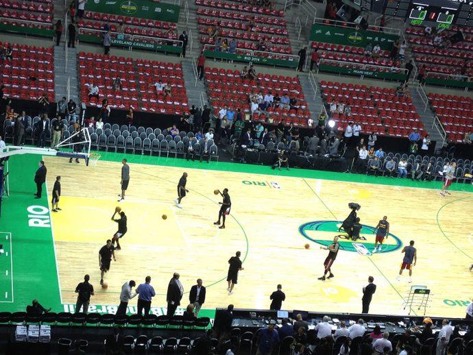 Jogo de basquete do meu time no Rio – Miami Heat