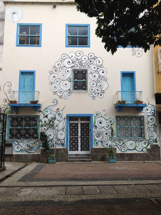 Fachada do hostel no Rio de Janeiro
