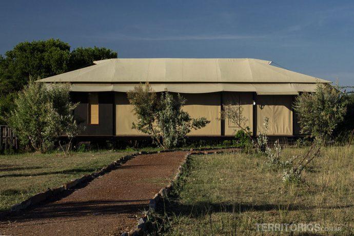 A barraca por fora