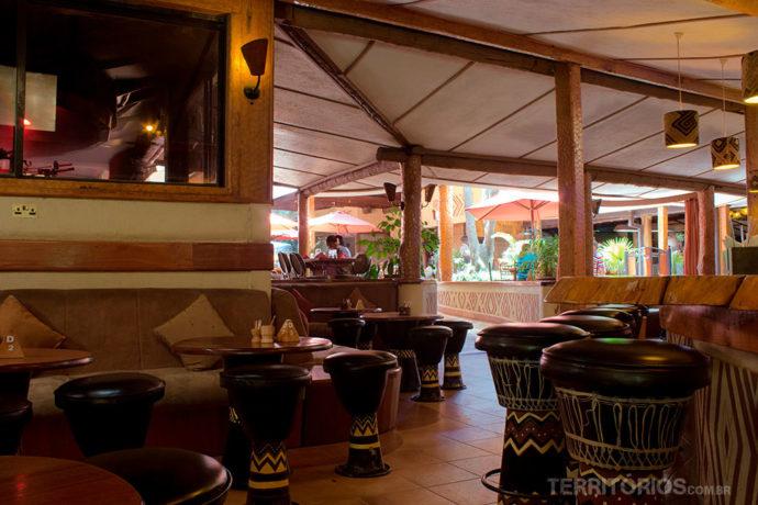 Um dos ambientes do restaurante