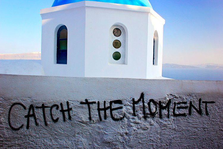 No pôr do sol de Santorini, um dos mais famosos do mundo