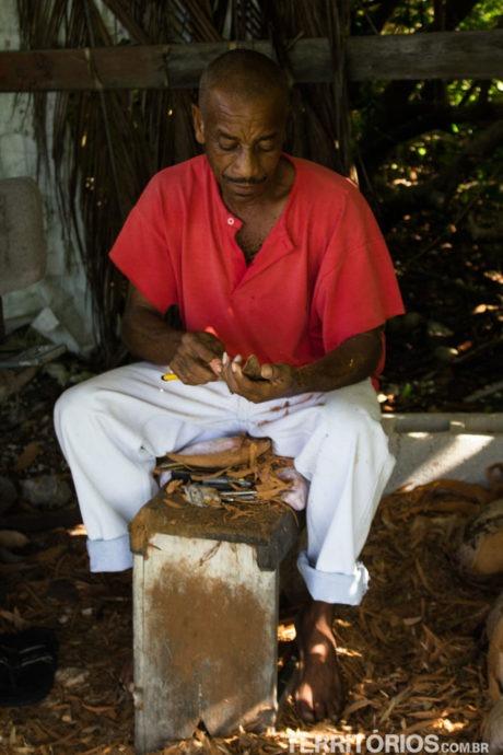 The Birdman, artesão em North Point - Barbados
