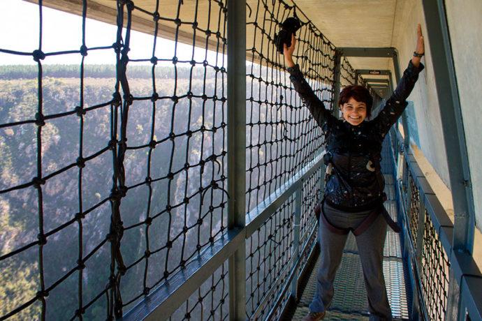 Curtindo a adrenalina na ponte