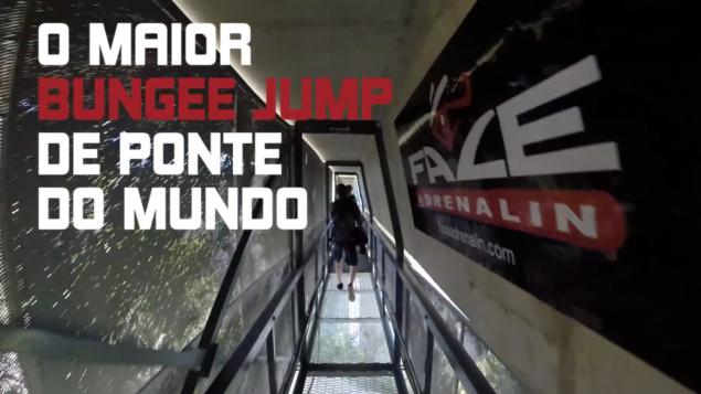 O maior bungee jump de ponte do mundo