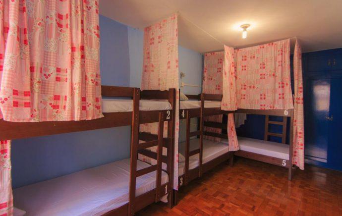 Dormitório feminino JS Hostel