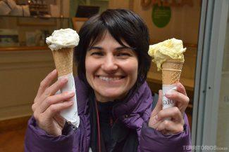 A alegria de comer sorvete na Itália