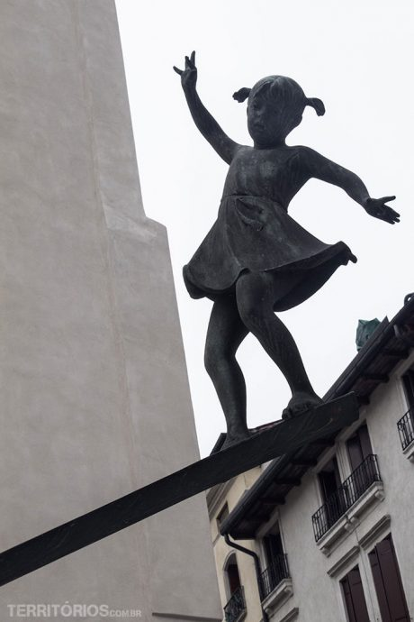 Escultura no meio de Vicenza