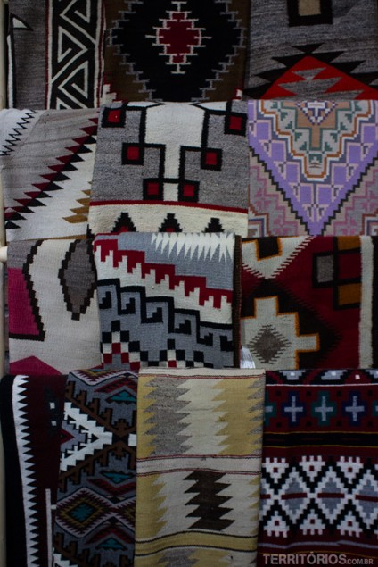 Tapetes tradicionais dos Navajos - Arizona