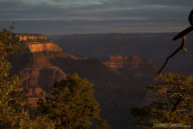 Amanhecer no Grand Canyon, Arizona