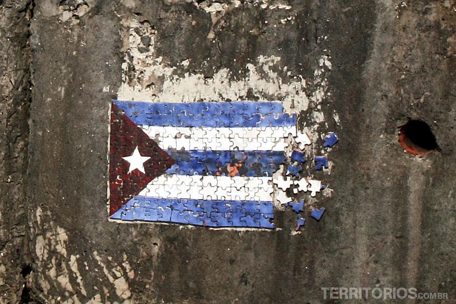 Intervenção urbana registrada nas Fotos de Cuba