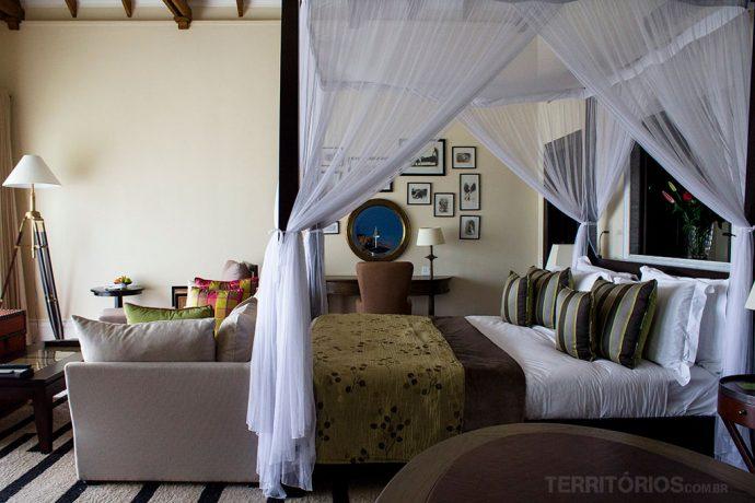 Meu quarto durante o dia no Hemingway's Nairóbi