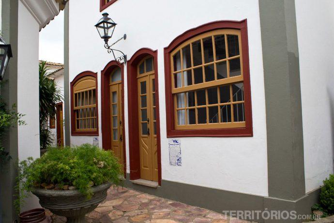 Cada quarto é uma casa colonial na Pequena Tiradentes