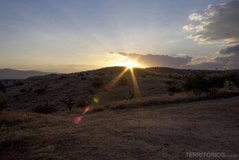 Pôr do sol em Lewa