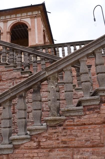 Detalhe na escada de entrada do Valle dei Vescovi