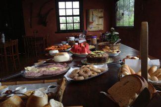 O café da manhã na Pousada Buieié