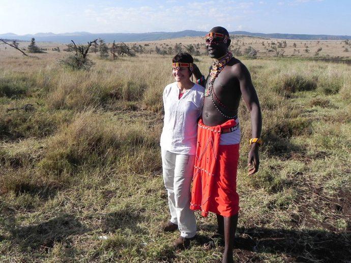 Eu e o Masai na savana africana