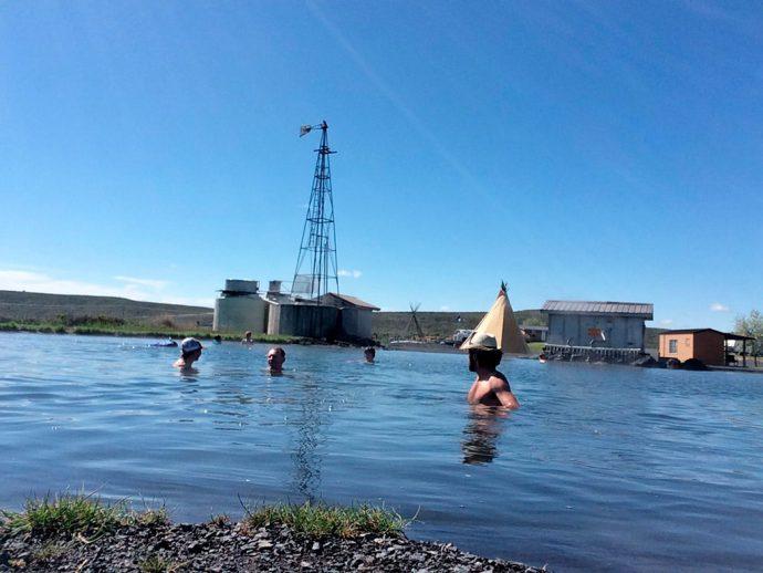 Crystal Crane Hot Spring águas termais em Burns