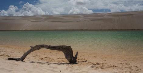 lagoa esmeralda nos Lençóis Maranhenses
