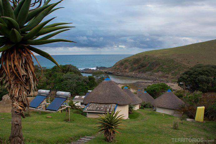 Cabanas coletam água da chuva e tem aquecedores