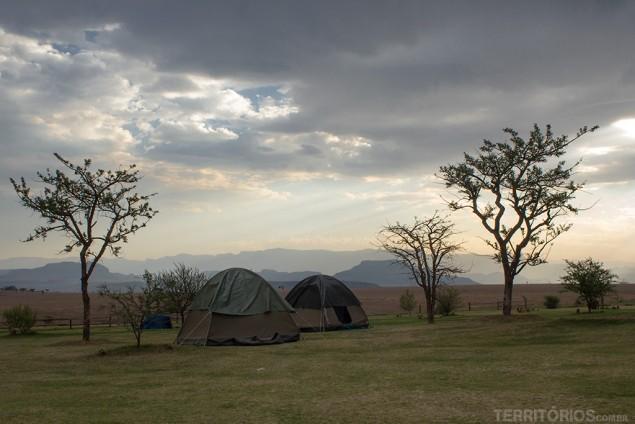 A vista e o camping