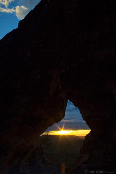 Nascer do sol no Portal da Chapada