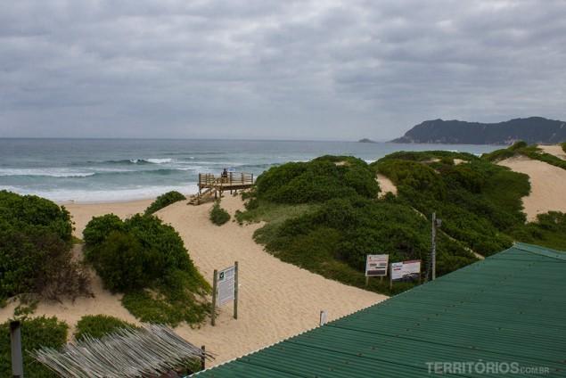 Vista da varanda para a praia