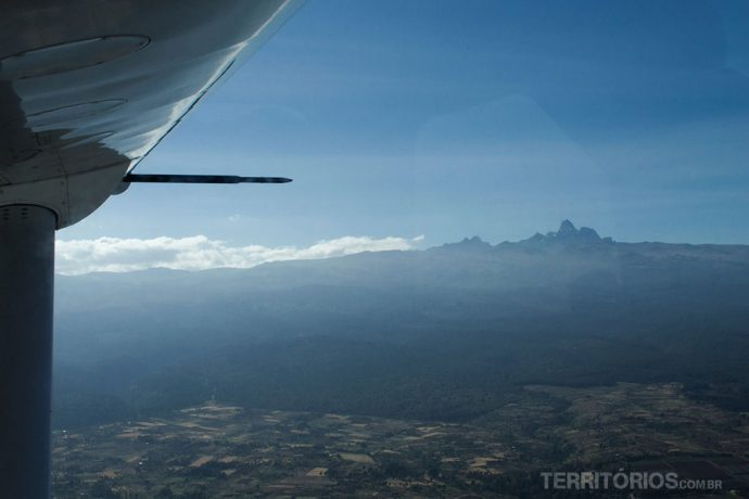 Mount Kenya visto do avião
