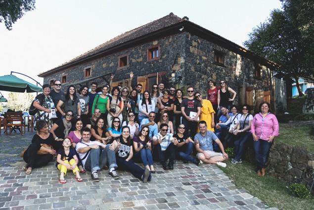 O grupo do Tchêncontro na Casa Righesso