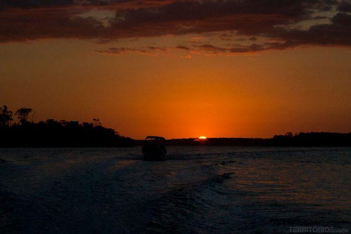 E o segundo pôr do sol no Delta do Parnaíba - Piauí