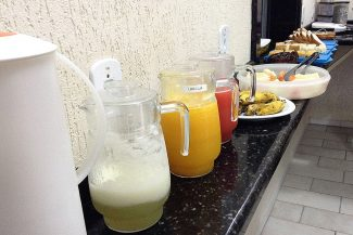 Café da manhã em uma das pousadas no Paraná