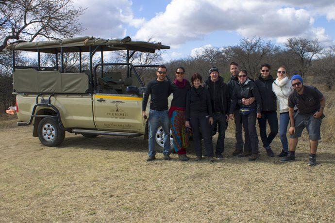 Brasileiros e alemães eram o grupo do safari na África do Sul (foto Guilherme Tetamanti)