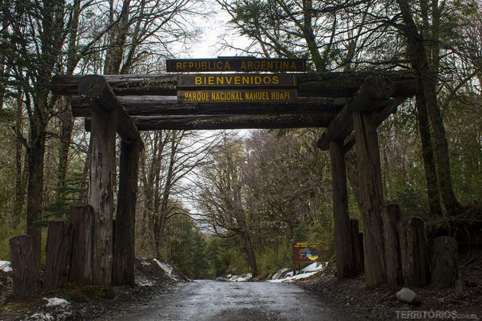 Boas vindas na Argentina no meio da CordIlheira dos Andes