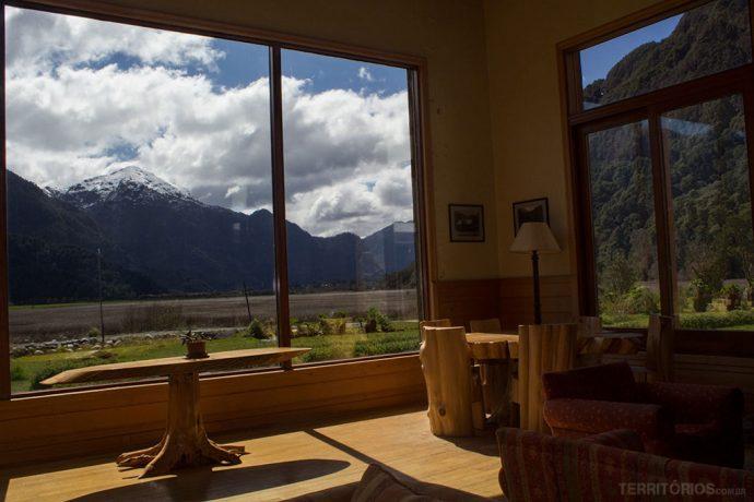 Vista no Hotel Natura Patagônia em Peulla