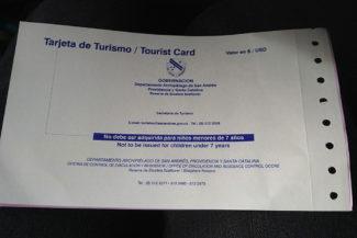 Tarjeta de turista custa 49 mil pesos colombianos