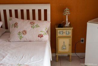 Detalhe no quarto da Pousada Ananda-ri