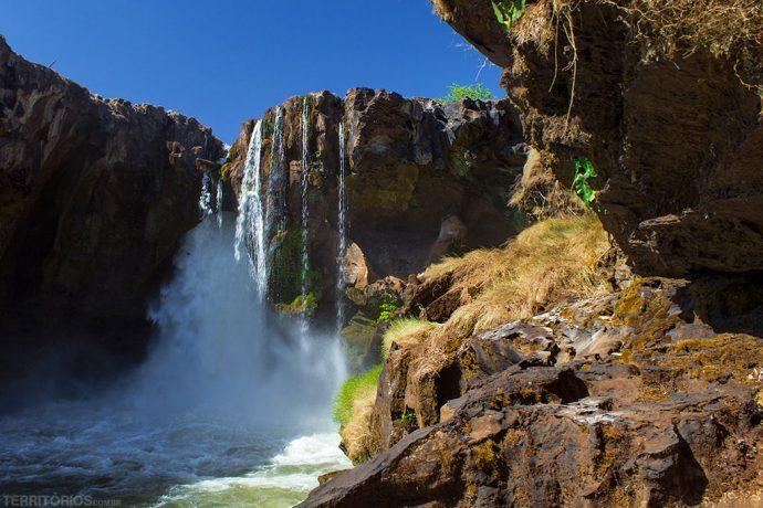 Cachoeira da Prata em época de seca