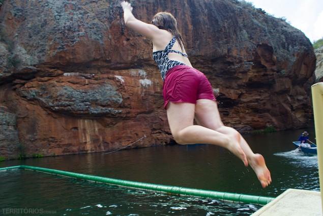 Impossível não querer se jogar na piscina do Cânion do Xingó