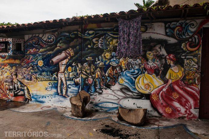 Local da fogueira para o tambor de crioula no Centro Cultural Mestre Amaral