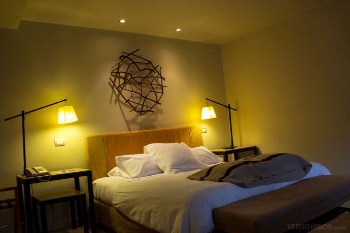 Meu quarto no Hotel Patagónico, um dos hotéis em Puerto Varas