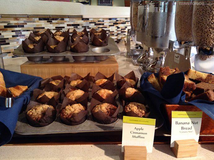 Muffins no café da manhã