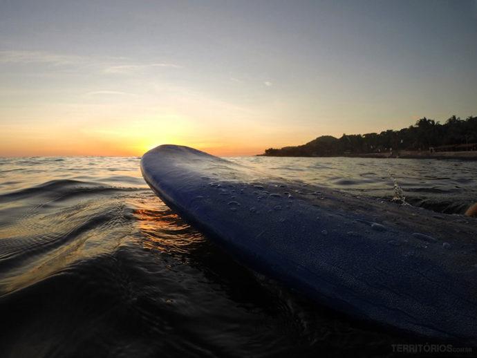 Pôr do sol em El Tunco