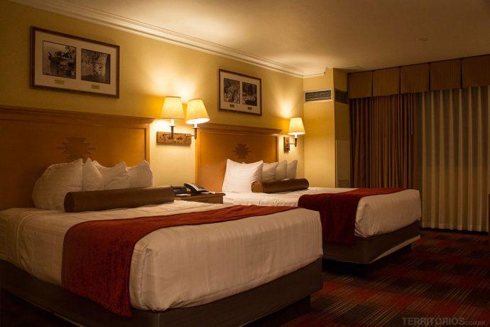 Meu quarto no Best Western, um dos hotéis no Arizona