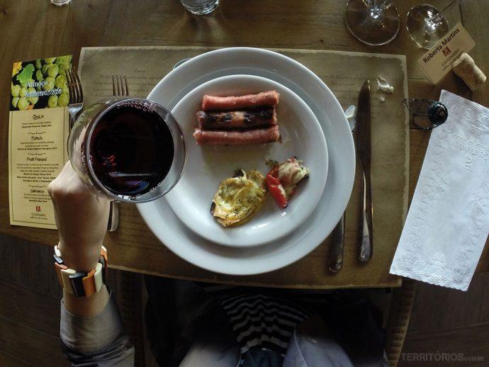 Almoço harmonizado na Vinícola Guatambu