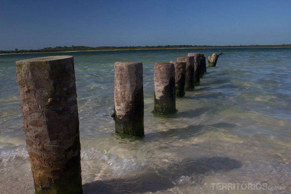 Água transparente na Lagoa do Paraíso