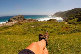Bota de trilha ajuda bastante na trilha mais bonita na África do Sul