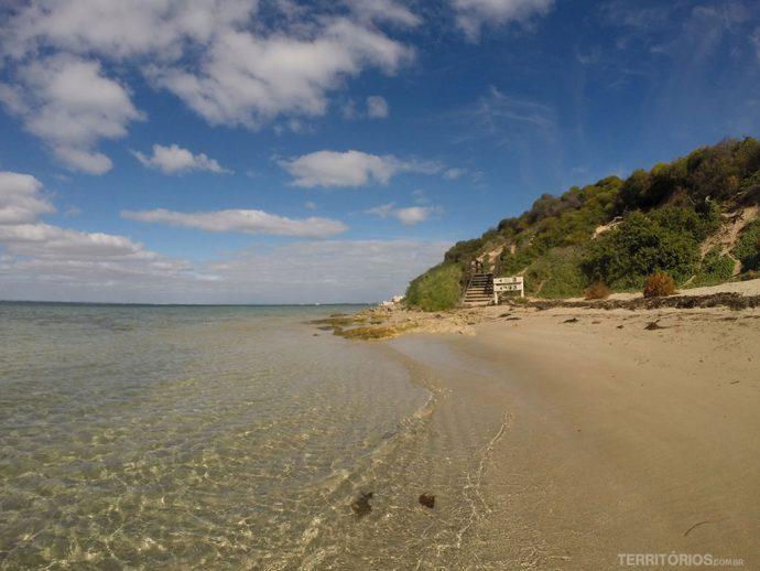 Praia na Penguin Island