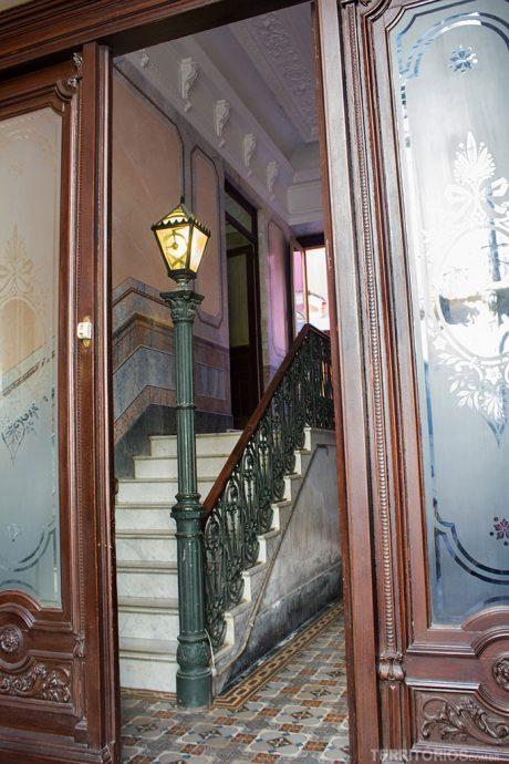 Entrada de casa histórica e preservada no centro de Pelotas