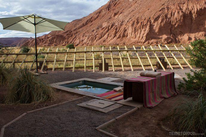 Espaço para o banho Inca ao ar ar livre